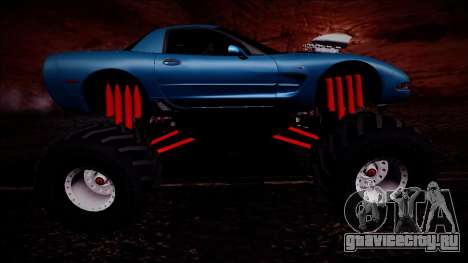 Chevrolet Corvette C5 Monster Truck для GTA San Andreas вид сверху