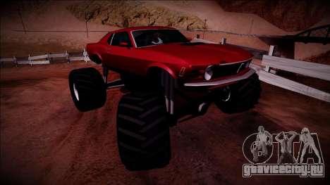 1970 Ford Mustang Boss Monster Truck для GTA San Andreas вид справа