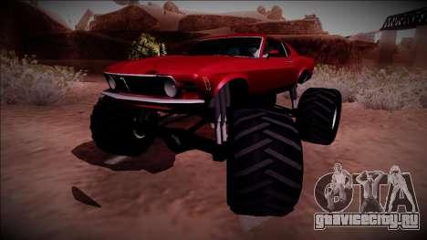 1970 Ford Mustang Boss Monster Truck для GTA San Andreas вид сзади слева