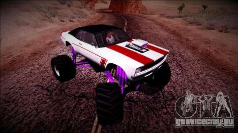 GTA 5 Declasse Tampa Monster Truck для GTA San Andreas вид изнутри