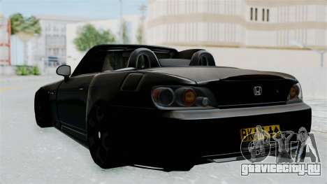 Honda S2000 Berlin Black для GTA San Andreas вид слева