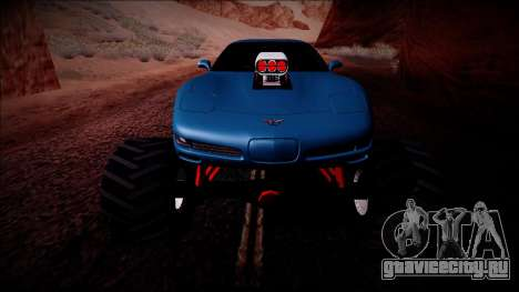Chevrolet Corvette C5 Monster Truck для GTA San Andreas салон