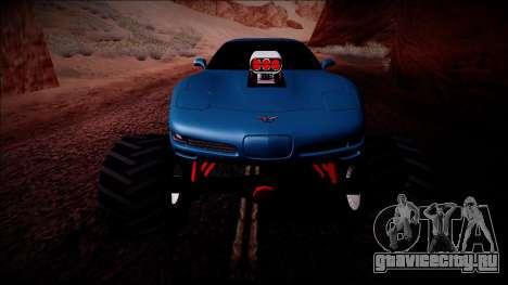 Chevrolet Corvette C5 Monster Truck для GTA San Andreas салон