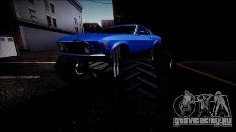 1970 Ford Mustang Boss Monster Truck для GTA San Andreas колёса