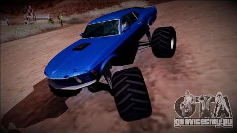1970 Ford Mustang Boss Monster Truck для GTA San Andreas двигатель