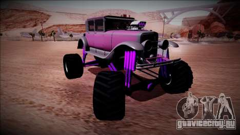 GTA 5 Albany Roosevelt Monster Truck для GTA San Andreas вид сзади