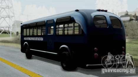 Parry Bus Police Bus 1949 - 1953 Mafia 2 для GTA San Andreas вид слева