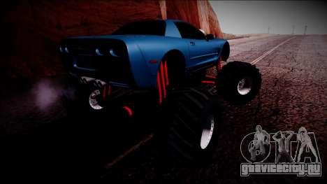 Chevrolet Corvette C5 Monster Truck для GTA San Andreas вид снизу