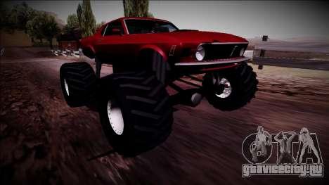 1970 Ford Mustang Boss Monster Truck для GTA San Andreas