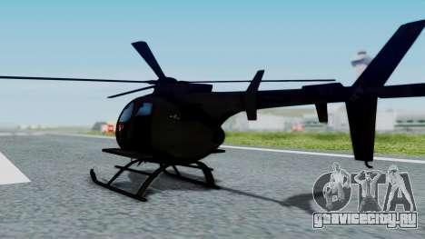 MH-9 Hummingbird Recon для GTA San Andreas вид слева