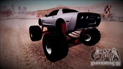 Chevrolet Corvette C5 Monster Truck для GTA San Andreas вид слева