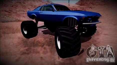 1970 Ford Mustang Boss Monster Truck для GTA San Andreas вид сверху