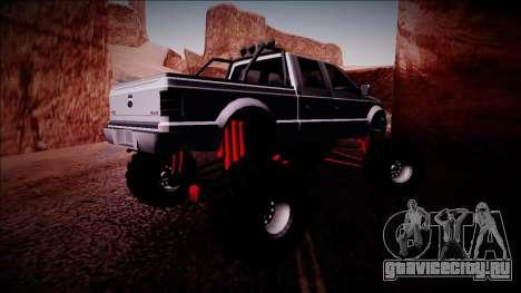 GTA 5 Vapid Sadler Monster Truck для GTA San Andreas вид справа