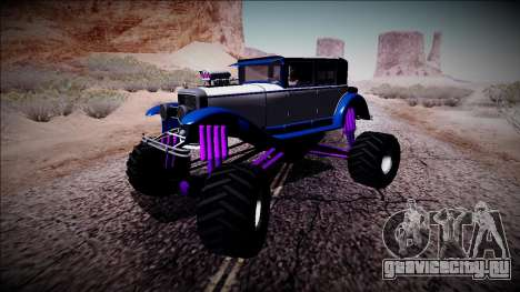 GTA 5 Albany Roosevelt Monster Truck для GTA San Andreas вид слева