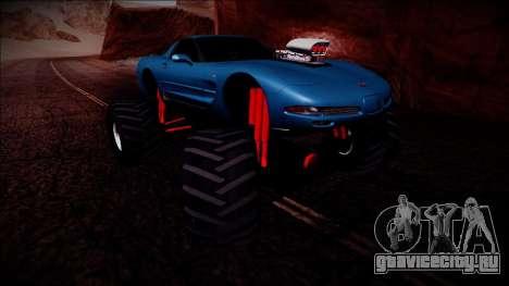 Chevrolet Corvette C5 Monster Truck для GTA San Andreas вид сбоку