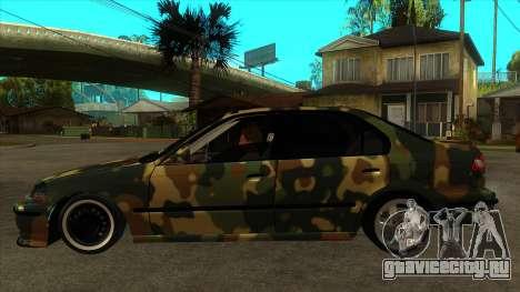 Honda Civic TskDan Onaylı hollandalı для GTA San Andreas вид слева