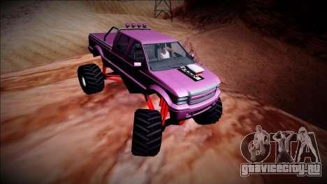GTA 5 Vapid Sadler Monster Truck для GTA San Andreas вид изнутри