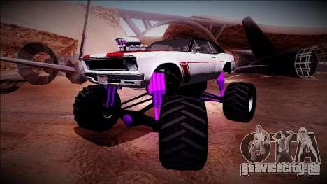 GTA 5 Declasse Tampa Monster Truck для GTA San Andreas вид сзади слева