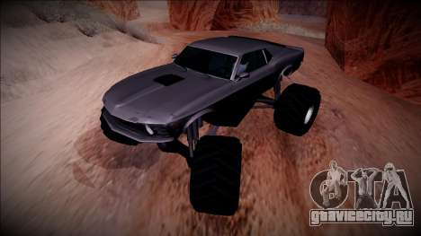 1970 Ford Mustang Boss Monster Truck для GTA San Andreas вид сбоку