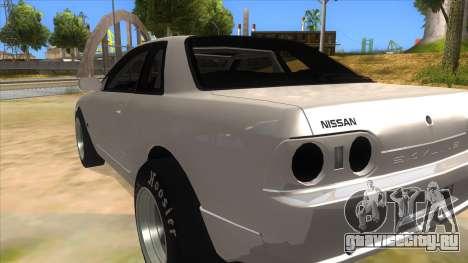 Nissan Skyline R32 Drag для GTA San Andreas вид сзади слева