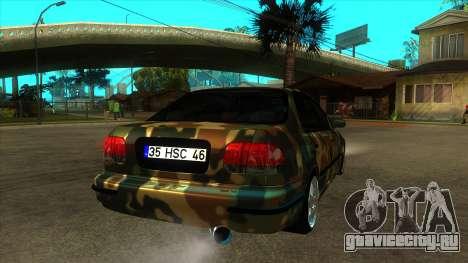 Honda Civic TskDan Onaylı hollandalı для GTA San Andreas вид справа