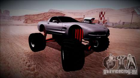 Chevrolet Corvette C5 Monster Truck для GTA San Andreas вид сзади слева