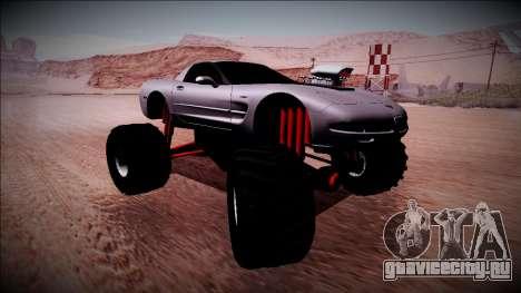 Chevrolet Corvette C5 Monster Truck для GTA San Andreas вид сзади слева