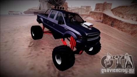 GTA 5 Vapid Sadler Monster Truck для GTA San Andreas вид сбоку