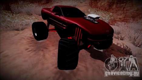 Chevrolet Corvette C5 Monster Truck для GTA San Andreas вид изнутри