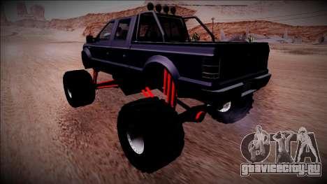 GTA 5 Vapid Sadler Monster Truck для GTA San Andreas вид сзади слева