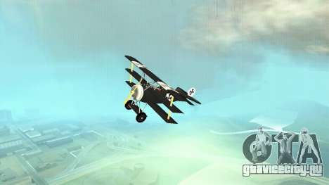 Fokker Dr1 triplane для GTA San Andreas вид сзади