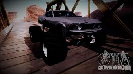 1970 Ford Mustang Boss Monster Truck для GTA San Andreas вид изнутри