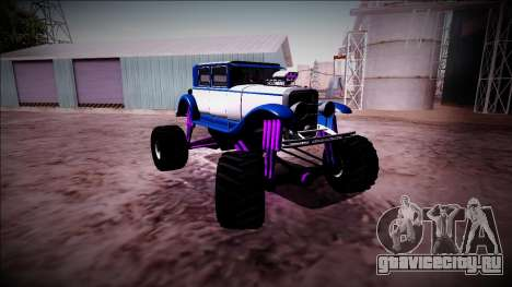 GTA 5 Albany Roosevelt Monster Truck для GTA San Andreas вид изнутри