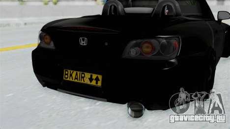Honda S2000 Berlin Black для GTA San Andreas вид сзади