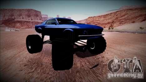 1970 Ford Mustang Boss Monster Truck для GTA San Andreas салон