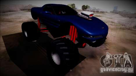 Chevrolet Corvette C5 Monster Truck для GTA San Andreas вид сзади