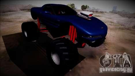 Chevrolet Corvette C5 Monster Truck для GTA San Andreas вид сзади