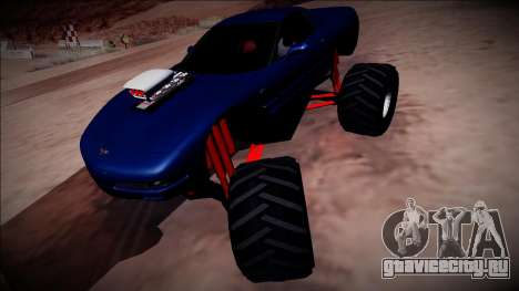 Chevrolet Corvette C5 Monster Truck для GTA San Andreas вид справа