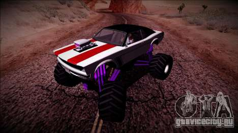 GTA 5 Declasse Tampa Monster Truck для GTA San Andreas вид сзади