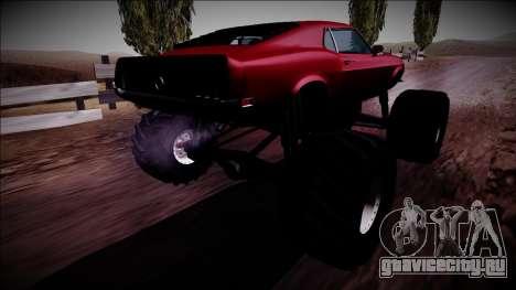 1970 Ford Mustang Boss Monster Truck для GTA San Andreas вид слева