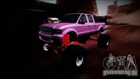 GTA 5 Vapid Sadler Monster Truck для GTA San Andreas вид снизу