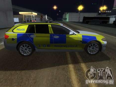 Джерси полицейского BMW 530d туринг для GTA San Andreas вид сзади слева