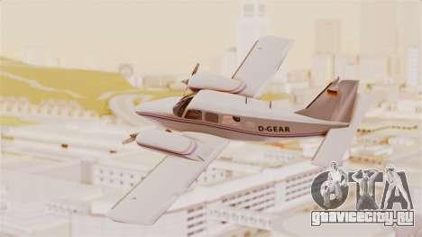 Piper Seneca II для GTA San Andreas вид слева