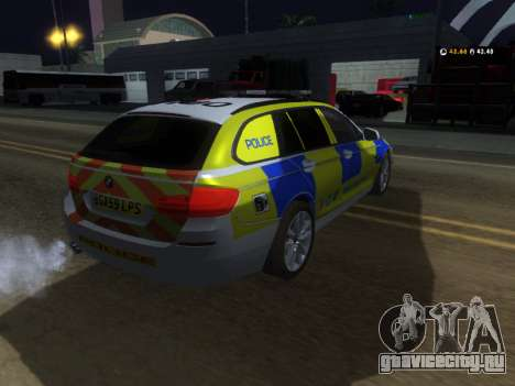 Джерси полицейского BMW 530d туринг для GTA San Andreas вид справа