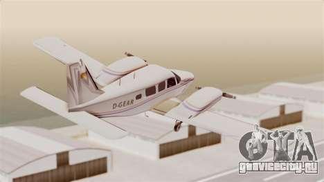 Piper Seneca II для GTA San Andreas вид справа