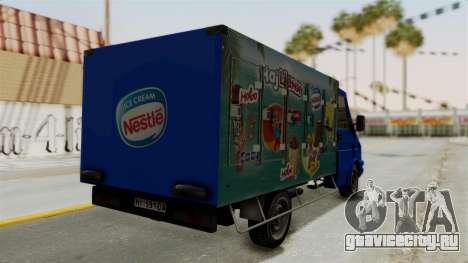 Zastava Rival Ice Cream Truck для GTA San Andreas вид слева