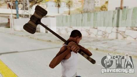 Skyrim Iron Warhammer для GTA San Andreas третий скриншот