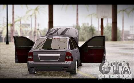 Lada Priora Bpan Version для GTA San Andreas вид изнутри