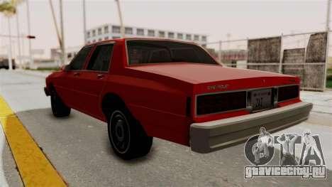 Chevrolet Caprice Classic 1986 v2.0 для GTA San Andreas вид слева