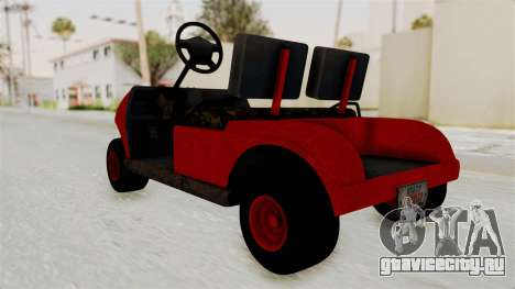 GTA 5 Gambler Caddy Golf Cart для GTA San Andreas вид справа